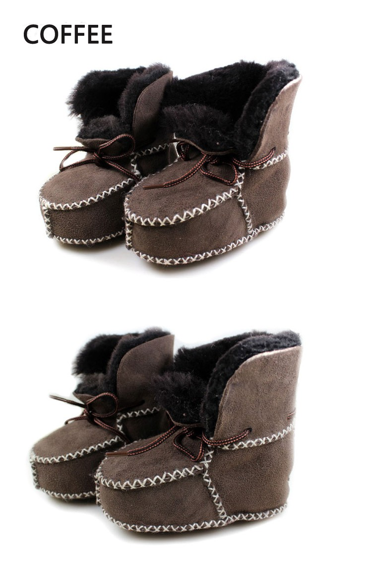aff49bdb22691 Winter Baby Shoes Boots Infants Warm Shoes Fur Wool Girls Baby ...