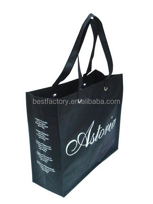 Good Quality pp spunbond bag, foldable shopping bag in pouch, wholesale fold up reusable shopping bags