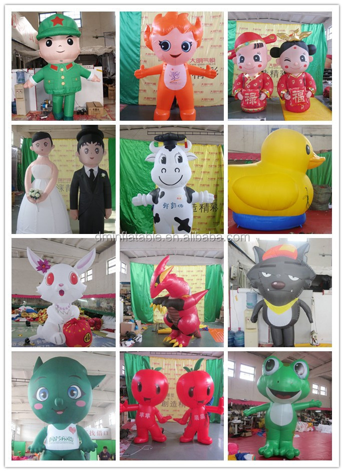 Customized new style cheap inflatable puffer fish mascot for Puffer fish costume