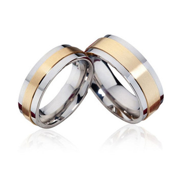 Unique Stainless Steel Gold And Silver Couple Ring Jewelry Wedding Bands Buy Simple Wedding Bands Design German Wedding Bands Wedding Rings Gold Product On Alibaba Com