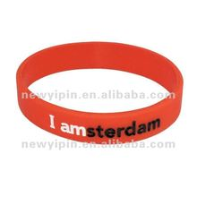 2013 I am sterdam silicone band wristband for gadget gifts