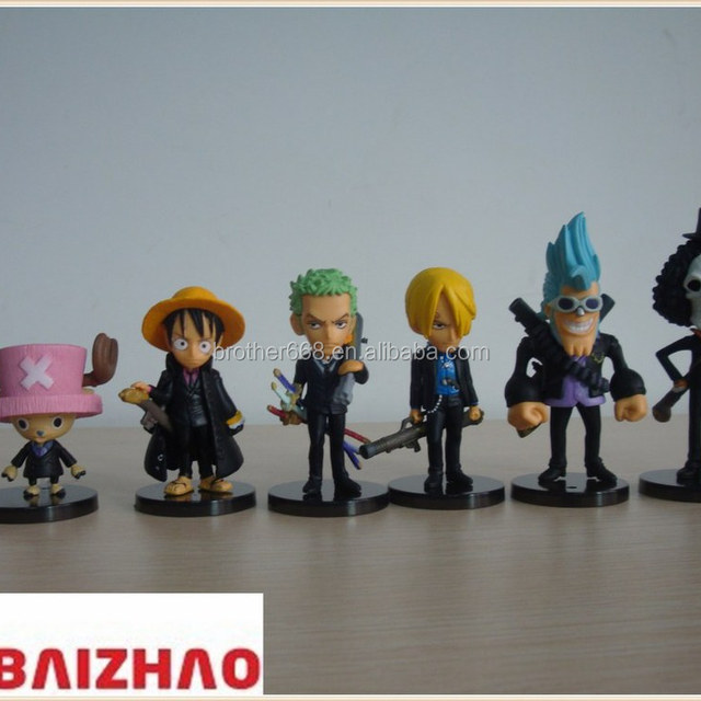whosale Plastic figurine toys 3D Cartoon Character keychain/cartoon 3D pvc figure with keychain toy