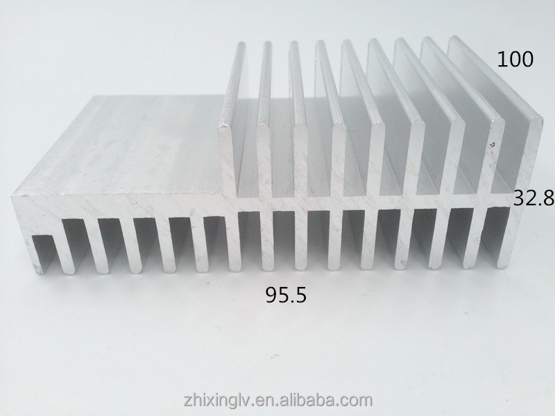 Very popular Extrusion Heat Sink profiled extruded <strong>aluminum</strong> 95.5*32.8-100 cheap best heatsink compound