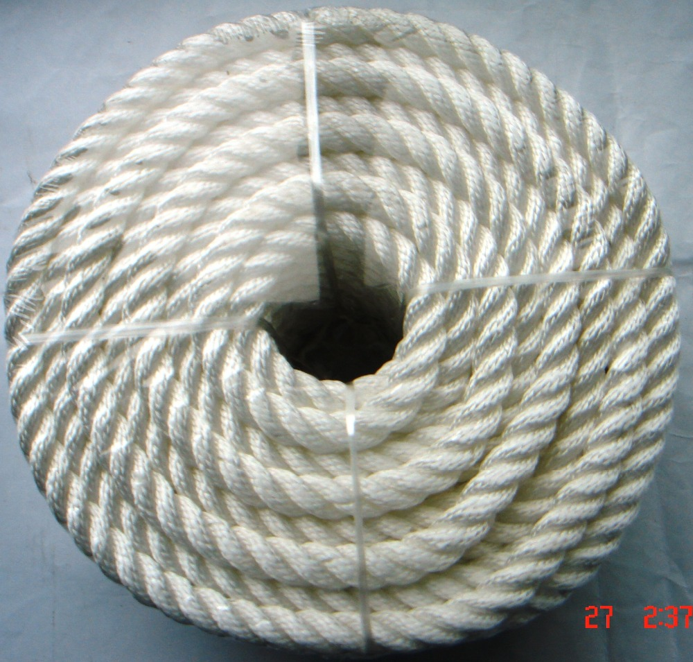 3 vertentes torceram a corda de nylon 30mm for sale