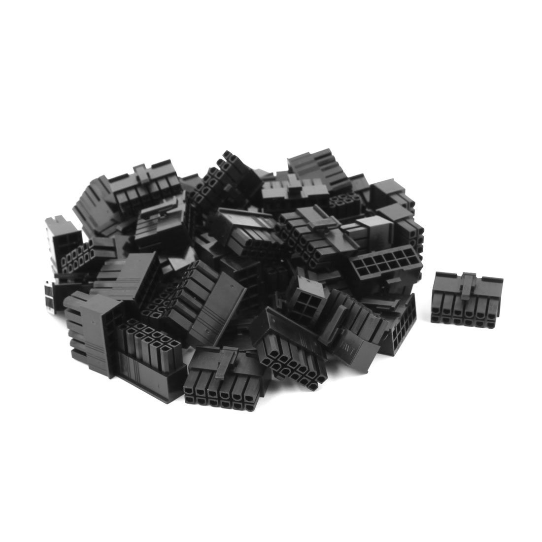 uxcell 50 Sets Double Row Male Housing 5557 4.2mm Pitch 12P Connector Plastic Shell