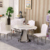 Modern wholesale restaurant round marble dining table set