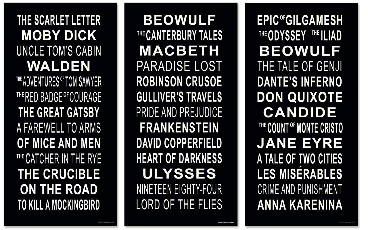 Classic Literary Subway Stop Signs Posters featuring American, English and World Literature