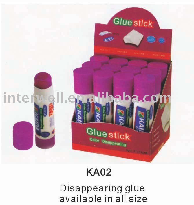PVA colored disappearing glue stick