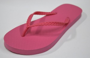 Fuchsia Color Rubber Sole Slippers Outdoor Brazil Flip Flops