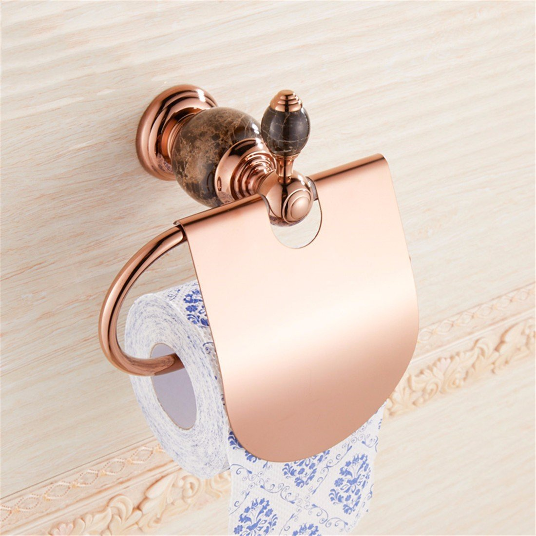 LAONA Continental antique rose gold black jade bathroom accessory kit towel bars toilet paper, toilet paper holder