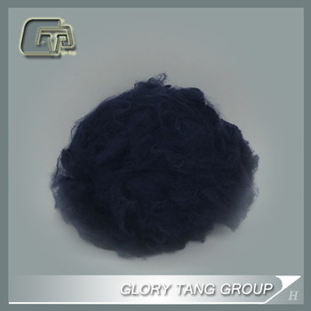 GTR327 density of polyester fiber,colourful dope dyed psf for spinning