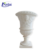 pure white marble large outdoors vases stone vase NT-BS0107