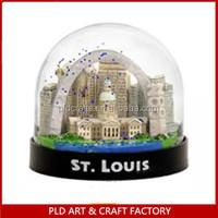Usa Souvenir Plastic Water Snow Ball/usa Building Snow Globe City ...