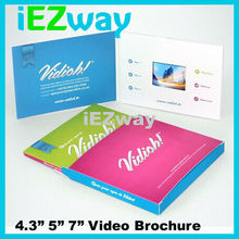 "2015 Newest paper custom 2.4"" 2.8"" 3.5"" 4.3"" 7"" 10"" inch invitation lcd video brochure card"
