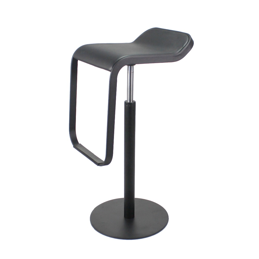 Fully Black Lem Piston Counter Stool Stainless Steel Base Bar Metal Replica Adjule