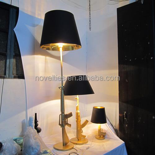 Modern Designer Lounge Gun Floor Lamp With Gold Chrome Silver ...