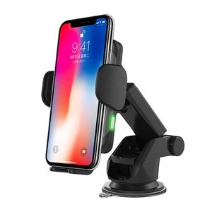 New Motor Automatic Open 10W Fast Qi Wireless Car Charger for iphone for samsung Wireless Car Charger Mount