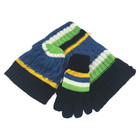 Baby boy warm keep winter knitted scarf hat glove set
