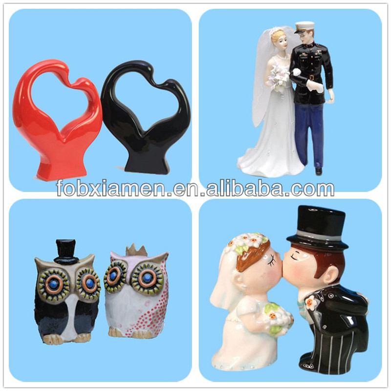 Crystal Antique Love Heart San Francisco Bride Groom Water Globe Wedding Favor Gift