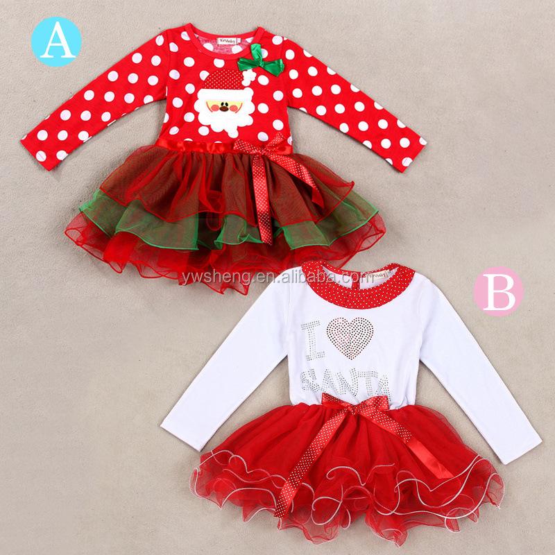437c64654 Ad 2015 última Navidad bebé chica rojo bebé punto Tutu de princesa vestido  de los niños para niño ropa de niña
