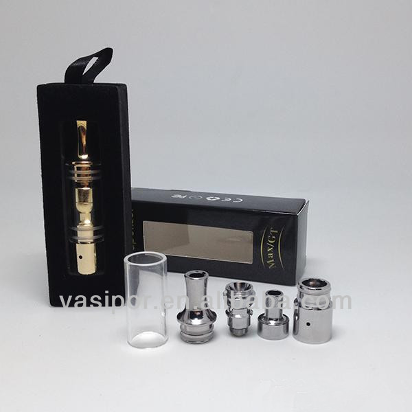 Glass gax atomizer Glass tank Straight tube special for wax, dry herb extractive newly in UAS market
