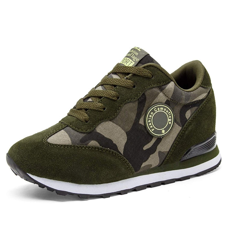 6bdaf1537c215 Buy Hoxekle Womens High Top Platform Wedge Sneakers Fashion Sports ...