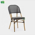 fabric coffee shop chair cafe aluminum outdoor chair