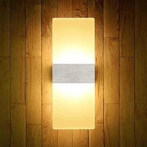 LED Wall Acrylic Modern Fashion Creative Wall Lamp 6W 12W Living Room Square Round corridor Acrylic Bedside Wall Lamps