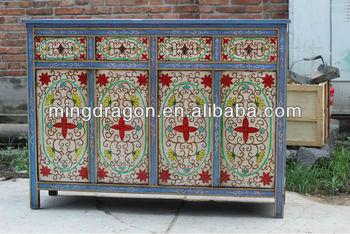 Chinese Antieke Blauw Schilderen Tibet Kast Buy Chinese Antieke Schoenenkastchinese Antieke Houten Bruiloft Kastantieke Chinese Houten Hoekkast