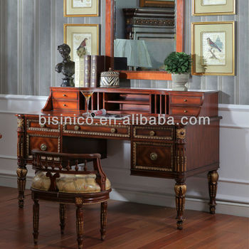 French antique reproduction king louis bedroom furniture set dresser table with mirror and stool for French reproduction bedroom furniture