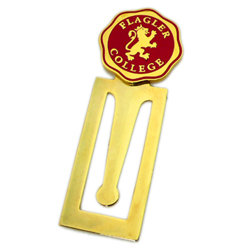 Promotional offset printing cheap custom folding magnetic bookmark clips