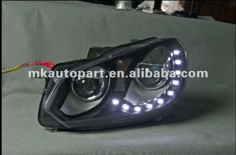 led phare pour golf 6 gti syst me automatique d 39 clairage id de produit 586484185. Black Bedroom Furniture Sets. Home Design Ideas