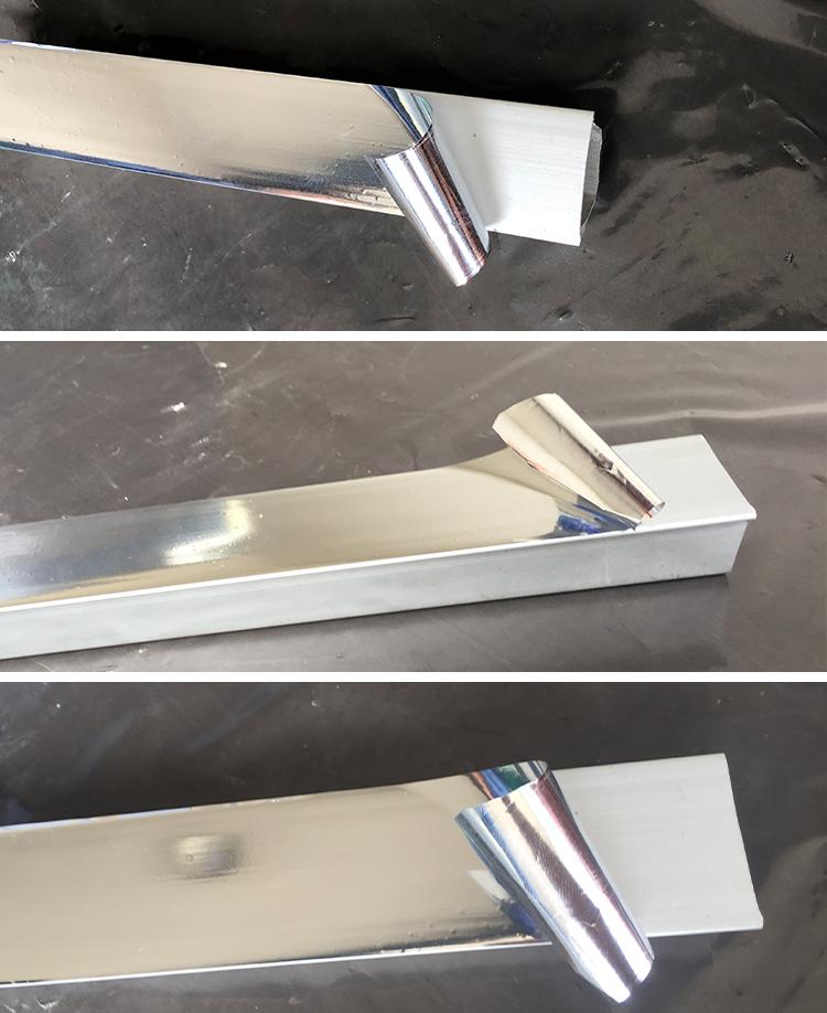 Zelfklevende aluminiumfolie bekleed pet beschermfolie voor bouwmaterialen