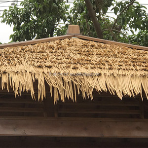 Fireproof cheap synthetic artificial thatch for roof tiles