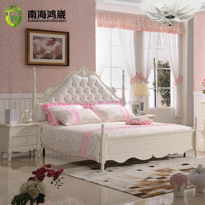 royal french provincial bedroom set with leather headboard - buy royal furniture bedroom sets