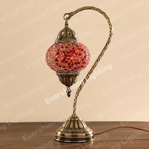 Evershining Lighting HOTSALE Handmade Turkish Inspired Swan Table Lamp Mosaic Moroccan Lamps Wholesale YMA403