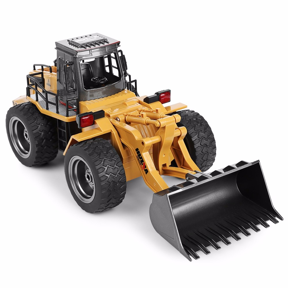 Globalwin huina 1520 6ch charging metal rc excavator 2.4G remote car truck toy for youngsters