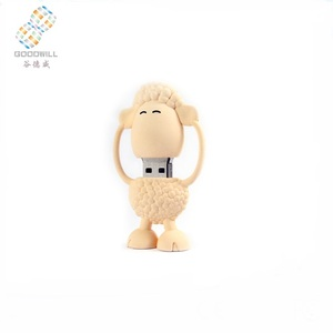 Promotional Gifts Bulk Animal Shape Sheep Soft Pvc 128mb to 128gb Usb Flash Drive