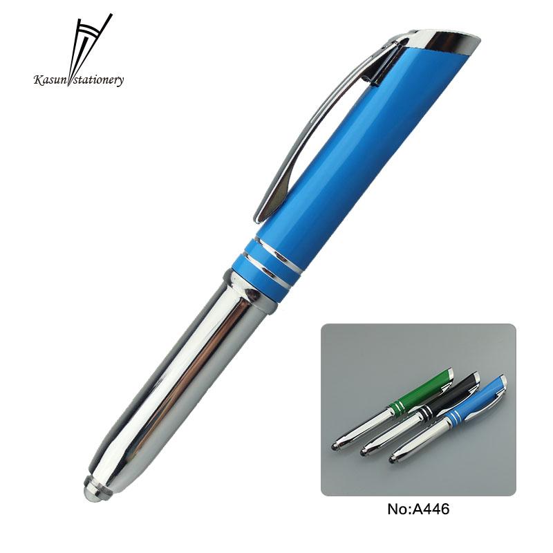Novelty Stationery Ballpoint Pen LED Lights Lanyard Notes School Supplies QC