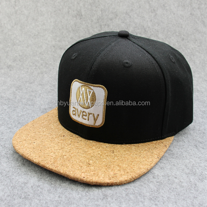 Custom Logo Applique Embroidery Wooden Brim Snapback Hats - Buy ... 5c35d6b3292