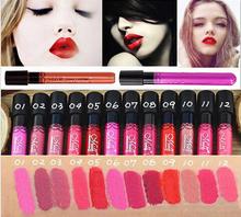 Brand Makeup Sexy Fuller Lips Batom Liquido Matte Lipstick Long Lasting Sweet Girl Waterproof Elegant Daily Color Lipgloss