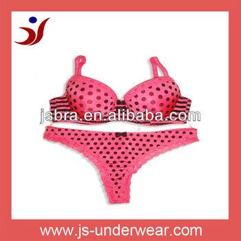 high quality brand name women underwear pink spot bra setladies sexy net bra
