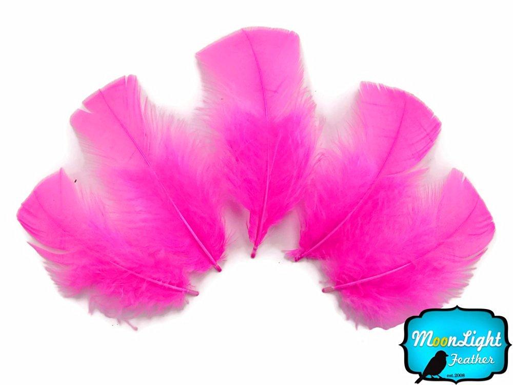 Turkey Feathers, Turkey Plumage - Hot Pink Turkey T-base Plumage Feathers - 0.50 Oz.