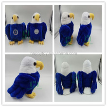 HI CE lifeful blue flying eagle bird custom plush toy