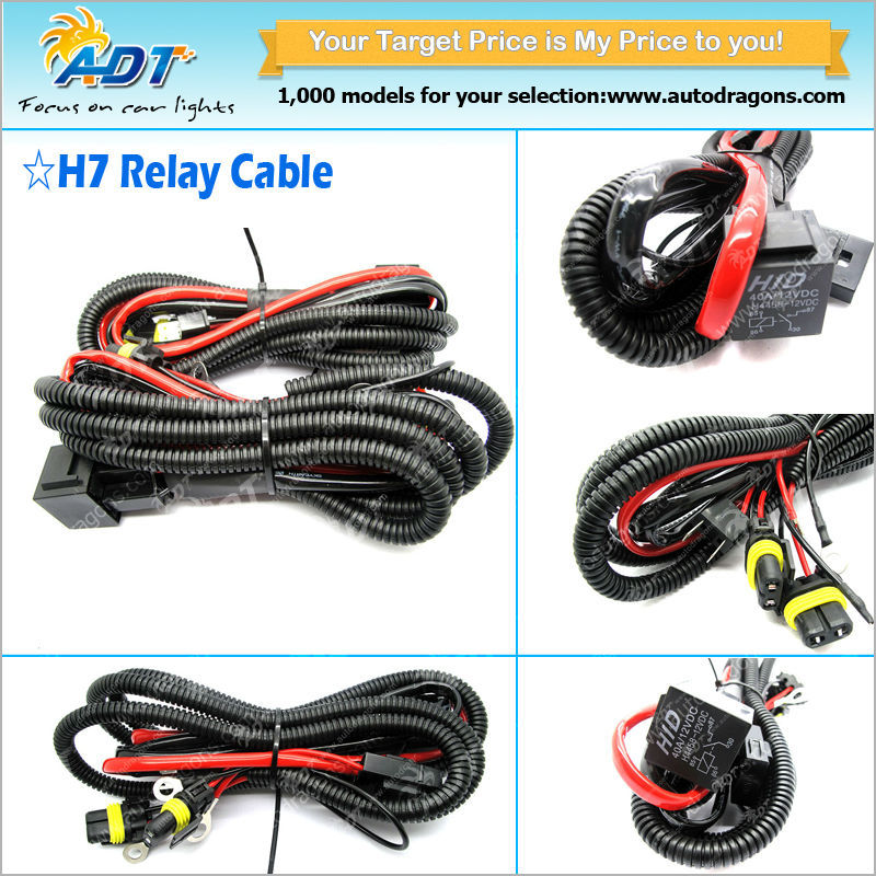 9005 9006 H10 9145 H7 H11 Hid Conversion Kit Relay Wire Harness Adapter H Hid Wiring Harness on