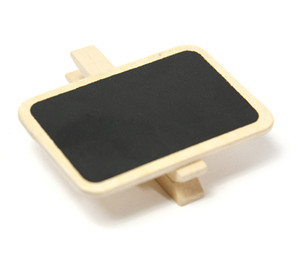 Mini Clip Wooden Small Blackboard for Wedding Table Decoration