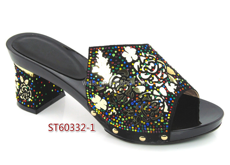 set Beautiful italian shoes ladies for multicolor 4 sequins and blue rhinestone ST60332 OnCAzwqFxE