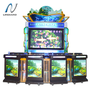 ICT bill acceptor fish game table machine fish hunter arcade game with high  quality cabinet