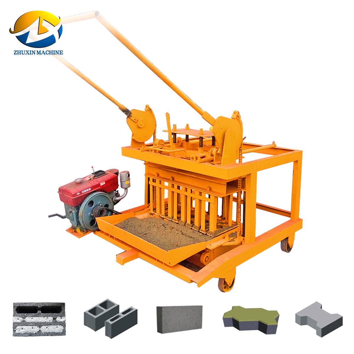 Qmj4 45 Manual Block Making Machine Price List Of Concrete