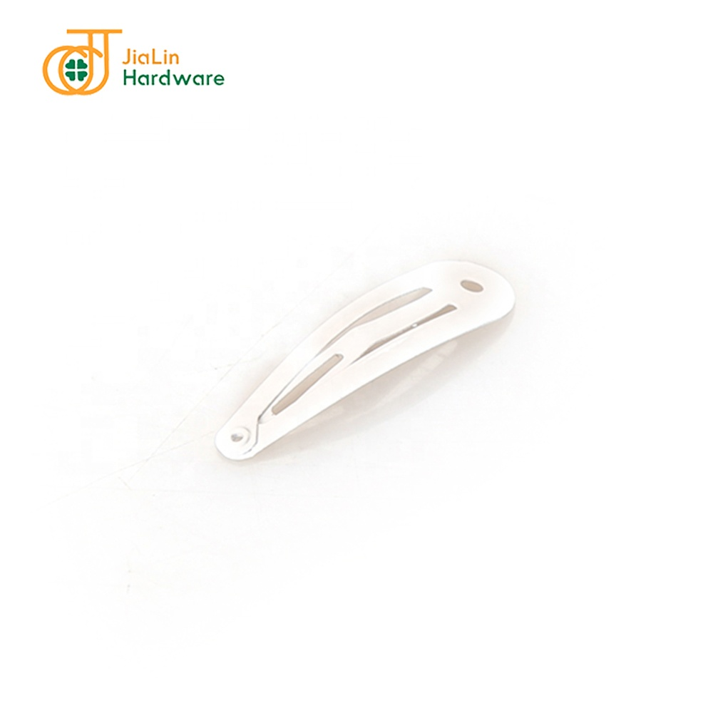 White Painting Mini Wholesale Metal Snap Hair Clips for Children